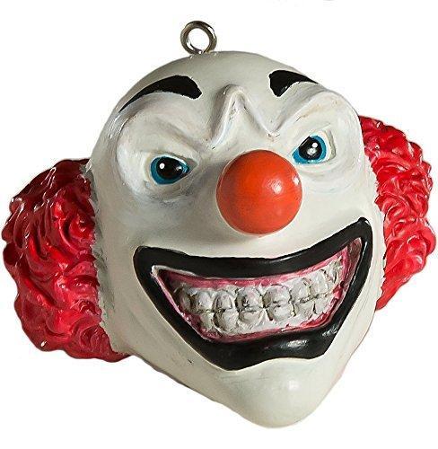 Evil grinsende Clown Kopf Horror Schmuck-Scary Prop und Dekoration für Halloween, Weihnachten, Partys und Events-Serie 1-von horrornaments