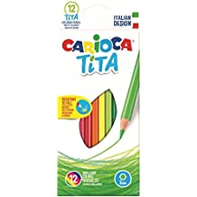 Carioca Tita Multi 12pc(s) colour pencil - Colour Pencils (12 pc(s), Multi, Synthetic resin, 3 mm, Hexagonal, Italy)