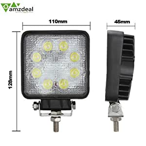 amzdeal 8 led 24w phare de travail lumen projecteur spot ampoule lampe chantier auto spotlight. Black Bedroom Furniture Sets. Home Design Ideas
