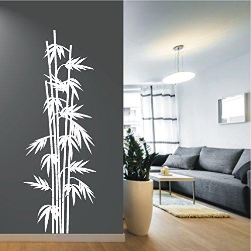 HomeTattoo WANDTATTOO Wandaufkleber Bambus Pflanze Asia Wellness Flur Wandsticker 719 XL ( L x B ) ca. 150 x 54 cm...
