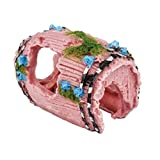 Lumanuby 1 Stück Mini Gartendeko DIY Werkzeug für Topfpflanzen Dekoration oder Aquarium Lebensechte Antik Weinfässer Design Mini Gartendeko Größe 9.5*7*5cm, Rosa Farbe