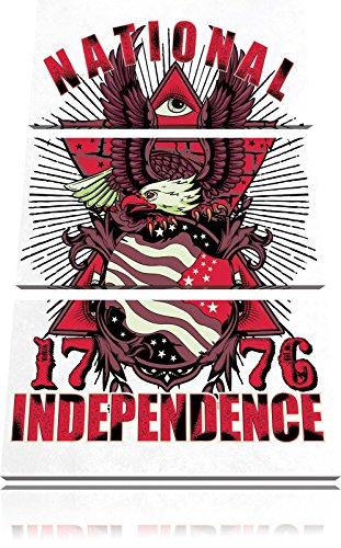 L'indipendenza nazionale luce immagine Tela 120x80 immagine su tela 3 pezzi, enorme XXL Immagini completamente incorniciata con barella, incorniciatura sulla foto parete con cornice, più economico di pittura o un dipinto a olio, non un manifesto o un banner