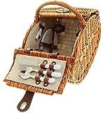 Luxus Picknickkorb Picknickkoffer Weide 4 Personen 40 cm