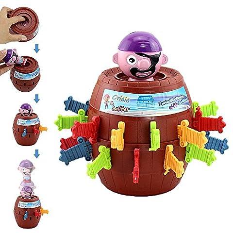 P.LOTOR Pop Up Pirate-Piraten Barrel Tricky Spielzeug Lucky Stab Pop Up Spiel mit Atemberaubend Neugierig und Interessant