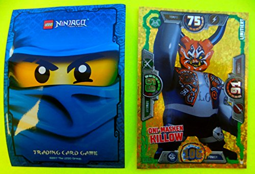Ninjago Serie 3 Lego Limitierte Karte LE 18 Oni Masken Killow mit Ninja Schutzhülle