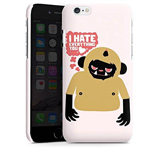 Apple iPhone 5s Housse Étui Protection Coque Monstre Phrases Amour Cas Premium brillant
