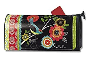 Mailwraps Boho Birds Mailbox Cover # 02003