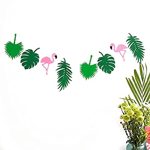 Tinksky Luau partie approvisionnement Hawaii guirlande bannière pour décoration Festival anniversaire (vert)