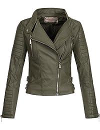 Ausnahme-Zustand AZ Damen Kunst-Lederjacke Übergangsjacke Jacke Bikerjacke  gesteppt 17069 ... bdf4f6d6ce