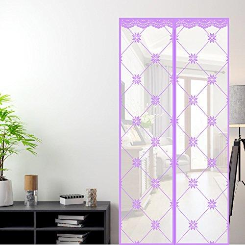 GLJY Magnetische Soft Screen Tür, Moskito Vorhang Klettvorhang Anti-Moskito im Sommer Hochwertige Partition Vorhang Verschlüsselung Silent,220x110cm