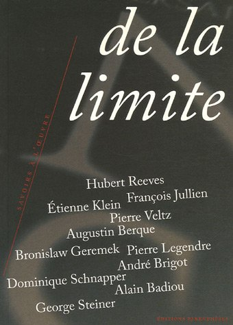 De la limite par Alain Badiou