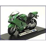 WELLY-2001 Kawasaki Ninja Kawasaki Ninja ZX-12R-1/18 modelo de moto