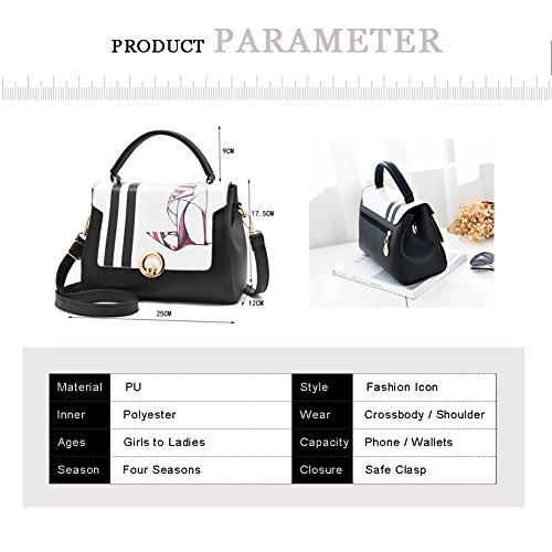 Borsa a tracolla elegante da donna di modo di Yoome Borsa multifunzione a sacco a tasca Crossbody Messenger Bag - Scarpe Rossetto