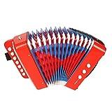 NUOBESTY Percussione Pulsante Fisarmonica Giocattolo Musicale Strumento Musicale Intellgent Giocattolo Puzzle educazione Giocattolo (Rosso)