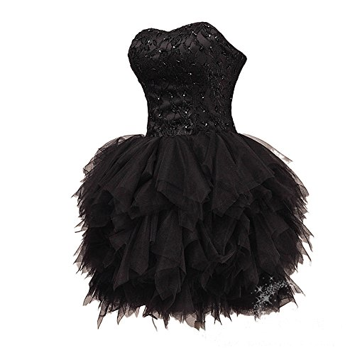 Bridal_Mall - Robe - Sans bretelle - Sans Manche - Femme Noir