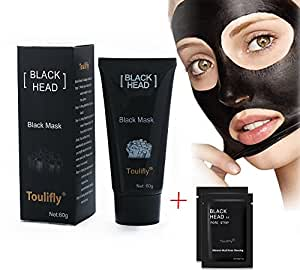 Gesichtsmasken Gesichtskuren Black Mask Mitesser Gesichtsmaske Schwarze Maske Gesichtsmaske Schwarz Peel off Maske Tiefenreinigung Pore Acne Peel Purifying Black Head anti Akne Reißen-Typ Mask Blackhead Killer Mitesser maske Black Mud Mask (60g)+2PC Nose Mask