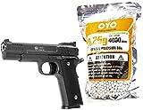 Nerd Clear Softair Pistole Vollmetall 700g 1 zu 1 Nachbau   inkl. 4000 Bio-Munition 0,25g