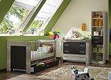 5-tlg Babyzimmer in Eiche sägerau - lava Wickelkommode Babybett Hochregal