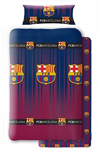 Atmosfera Home Juego Sabanas F.C Barcelona (Cama 90cm) Incluye funda de almohada