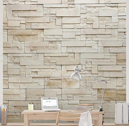 apalis stein tapete vliestapete provence stones fototapete quadrat vlies tapete wandtapete wandbild foto - Steintapete Beige Wohnzimmer