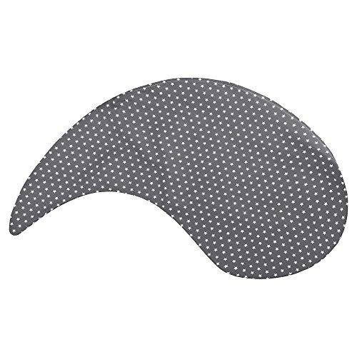 Sugarapple Kissen Bezug für das Yinnie von Theraline in 135 cm in grau Sterne weiß. Kissenbezug aus 100% Baumwolle, Oeko-Tex Standard 100 -