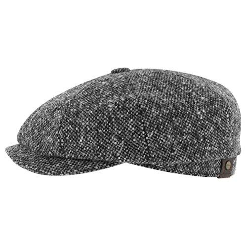 casquette-hatteras-tweed-stetson-tweed-61-cm-noir