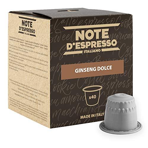 Note D'Espresso Kapseln Sweet Ginseng Instant, 6,5g x 40 Kapseln