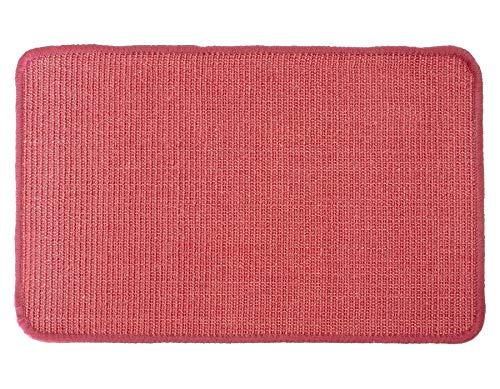 Primaflor - Ideen in Textil Katzen-Kratzmatte Katzenteppich - Rot 40 x 60 cm, Sisal, Rutschhemmend - Sisal-Matte, Geeignet für Fußbodenheizung, Sisalteppich für Wand & Boden