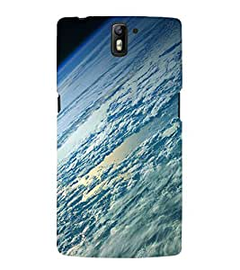 Fuson Designer Back Case Cover for OnePlus One :: OnePlus 1 :: One Plus One (Sky Clouds CLoudy Dense Clouds Blue Clouds Clear Clouds)