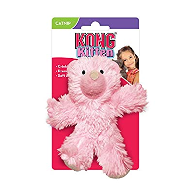 KONG Kitten Teddy Bear Cat Toy (Color Assorted) from Kong