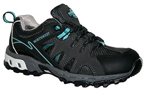 Donna Hope completamente impermeabili da escursionismo, con lacci scarpe da ginnastica Black/Blue