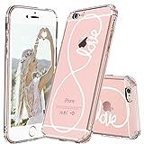 MOSNOVO iPhone 6S Plus Hülle, iPhone 6 Plus Hülle, Infinity Love Muster TPU Bumper mit Hart Plastik Hülle Durchsichtig Schutzhülle Transparent für iPhone 6 Plus/iPhone 6S Plus (Konfetti)