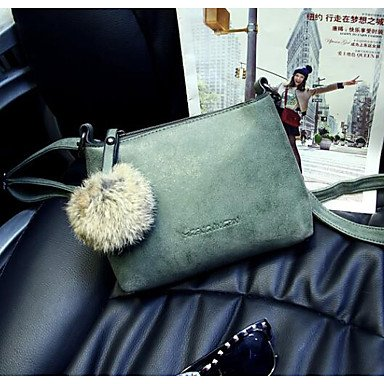 SUNNY KEY-Borsa a tracolla @ Donna Borsa a tracolla PU (Poliuretano) Per tutte le stagioni Casual Cerniera Verde Grigio Viola , gray gray