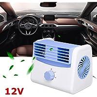 Binoster Ventilador de Coche portátil Car Cooler Silent Fan Velocidad de enfriamiento automático Ajustable Mini refrigeración Accesorios Summer Cooling (12V)