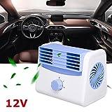 Ventola di raffreddamento portatile per auto Velocità di raffreddamento automatica silenziosa Mini accessori per lo styling per il raffreddamento (12V)