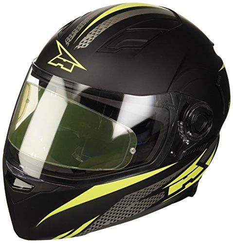 Axo - Casco RS01con pinlock, M, negro/amarillo