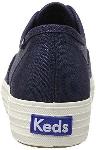 Keds Damen Triple Met Canvas Sneaker Blau (Navy)