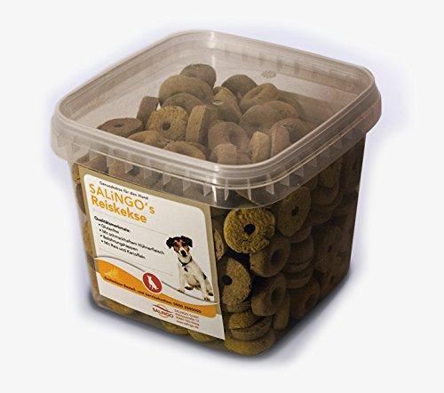 SALiNGO Hundekeks - Reiskekse mit Hühnchen, 500g