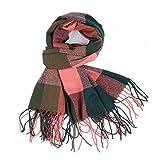 GreatestPAK Damen Herbst Vintage Plaid Print Schal Mehrzweckschal Schal,Khaki