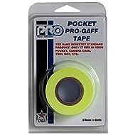 Pocket Pro-Gaff rs127rpye25 5,4 x 25 mm x 5,4 m, Gewebeband, fluoreszierend, Matt
