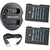 Newmowa Double USB Chargeur + 2 Batteries EN-EL14 pour Nikon EN-EL14, EN-EL14a et Nikon P7000, P7100, P7700, P7800, D3100, D3200, D3300, D5100, D5200, D5300