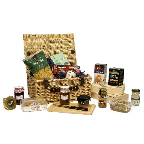 The Classic Luxury Hamper - Gourmet foods including Cake, Biscuits, Savoury nibbles and more! - Luxury 18th, 21st, 30th, 40th, 50th, 60th, 70th, 80th, 90th Birthday Gifts, Teachers, Wedding Anniversary, Corporate Hampers & Gifts for Him Men Her Women Pare