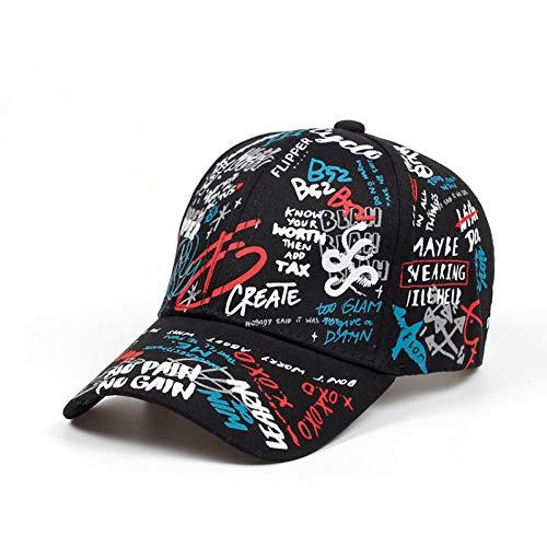 CXKNP Baseball Cap Sommer Baseball Kappe Graffiti Sun Caps Hip Hop Visier Frühjahr Hut Einstellbare Snap-Zurück Hüte Für Frauen Golf Caps (Kinder-snap Zurück Hut)