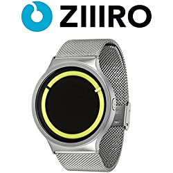 ZIIIRO Watch - Eclipse Metallic - Chrome/Lemon