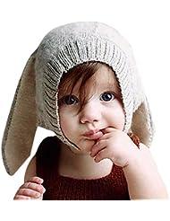 CHIC-CHIC Hiver Bébé Enfants Cagoule Bonnet Chaud Casquette Echarpe Capuche Chapeaux Lapin Déguisement