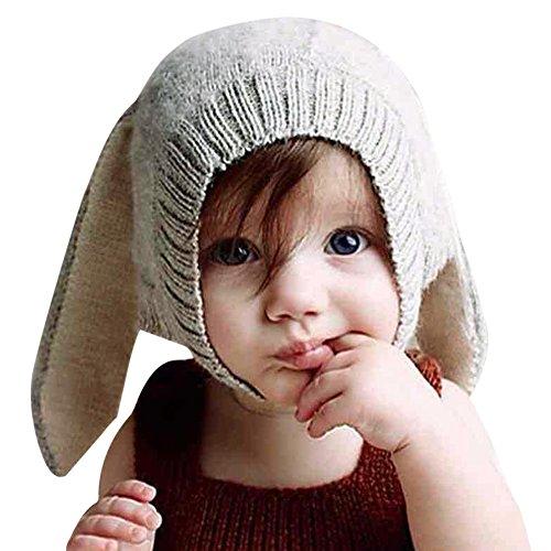 CHIC-CHIC 0-5 Jahre Säugling Baby Strick Mütze Fleece Kappe Kaninchen Ohren Hut...
