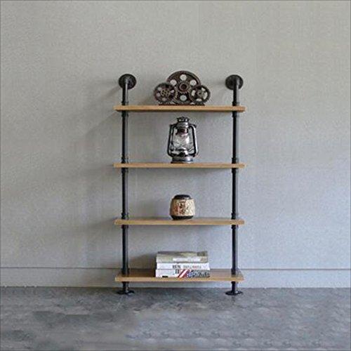 Nan Regal-Möbel-Industrielle Art-Feste Holz-Schindel-Leisten für Wohnzimmer-Schlafzimmer-Boden-Stand Regale (Größe : 4 Layers 60*20*120cm) (4 Regal-wohnzimmer-bücherregal)