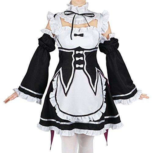CoolChange Re: Zero kara Hajimeru Isekai Seikatsu Maid Kostüm von Ram & Rem, Größe: (Kostüme Japanische Maid Cosplay)