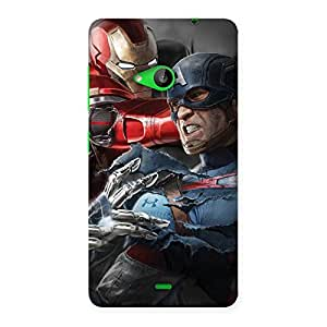 Genius vs Civil Punch Multicolor Back Case Cover for Lumia 535
