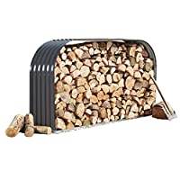 Waltons Metal Log Store Outside Garden Storage